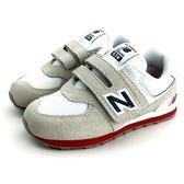 小童 New Balance  IV574CP 魔鬼氈 運動鞋 《7+1童鞋》9386 白色
