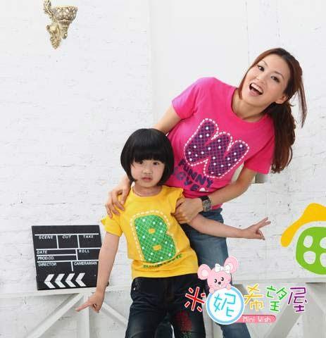韓版三色短袖T恤B.M.W親子裝/家庭裝/情侶裝