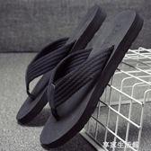拖鞋男夏季沙灘鞋時尚外穿個性涼鞋室外涼拖潮軟底夾腳人字拖 -享家生活館