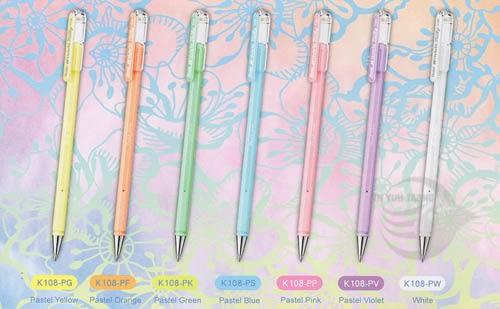 【金玉堂文具】Pentel 飛龍牌 K108 牛奶筆7色/組  彩繪筆 買一組再隨機贈送一支