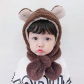 店長推薦 寶寶帽子秋冬兒童帽子圍巾一體男童護耳套頭帽嬰兒帽子女童圍脖帽