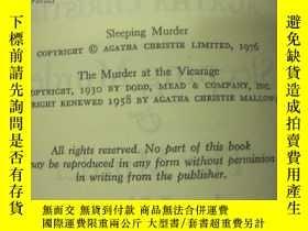 二手書博民逛書店Sleeping罕見Murder &THE MURDER AT