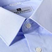 PIERRE BALMAIN 直紋短袖襯衫F2-淺藍