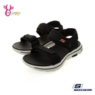 Skechers涼鞋 男涼鞋 運動涼鞋 GO WALK 5 健走涼鞋 一體成型 柔軟Q彈 記憶鞋墊 V8294#黑色◆奧森