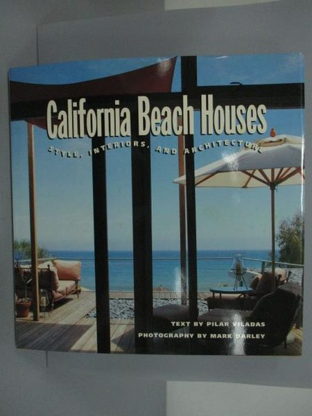 【書寶二手書T8/設計_QFR】California Beach Houses_原價1200