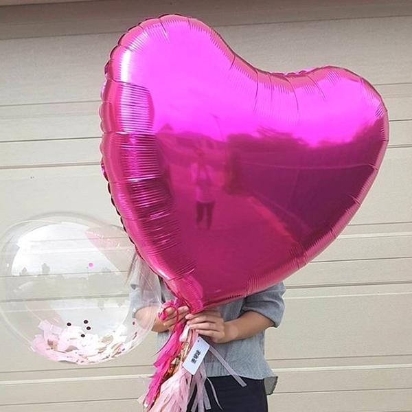 36吋愛心 鋁膜氣球 75公分 鋁箔心形 氣球 婚禮 場地佈置