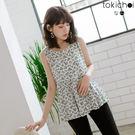 ◆ 材質透氣親膚搭配特殊印花造型,後方雙層綁結可依照個人肩寬及胸圍,調整成最舒適的寬度