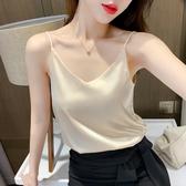 吊帶背心女2020夏季真絲無袖內搭打底黑色性感外穿寬鬆網紅上衣潮 免運費
