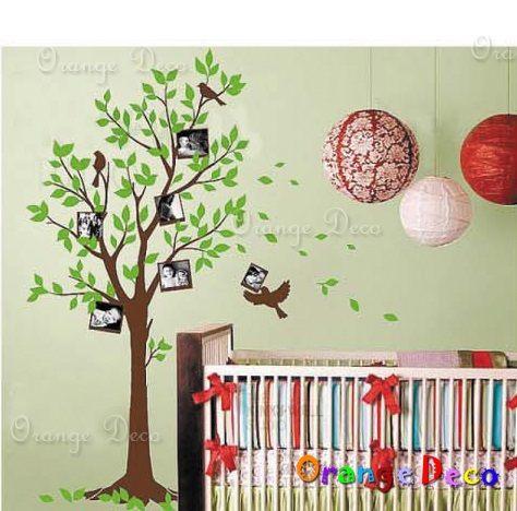 壁貼【橘果設計】相片樹 DIY組合壁貼/牆貼/壁紙/客廳臥室浴室幼稚園室內設計裝潢