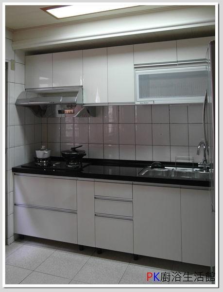❤PK廚浴生活館 實體店面❤ 高雄 歐化系統櫥具 290公分上下櫥一字型流理台/水晶門板