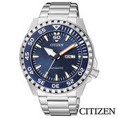 CITIZEN星辰 爵士藍運動風夜光機械腕錶 NH8389-88L