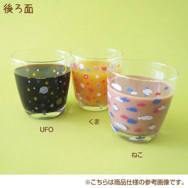 Hamee 日本 加藤真治 DECOLE 日式雜貨 透明玻璃杯 酒杯 水杯 飲料杯 (幽浮外星人) 586-134644