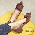 粗跟單鞋女高跟鞋尖頭小跟鞋百搭3CM低跟...