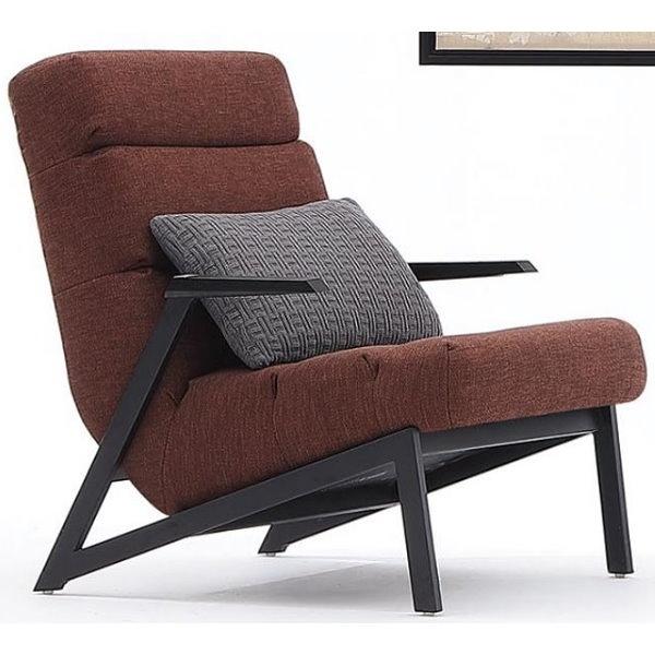 沙發 AM-435-4 墨爾紅色休閒主人椅【大眾家居舘】