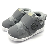 《7+1童鞋》日本 IFME 輕量 透氣 毛茸茸暖靴 高筒 學步鞋 機能鞋 運動鞋 D409  灰色
