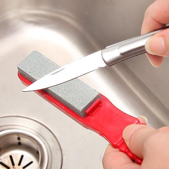 【TT131】 家用 手持磨刀器 多功能快速 磨刀石 櫥房用具 雙面粗細 磨菜刀 磨剪刀