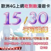 歐洲4G上網吃到飽 歐洲上網 歐洲上網卡 歐洲預付卡 法國 英國 德國 義大利 【SIM12】