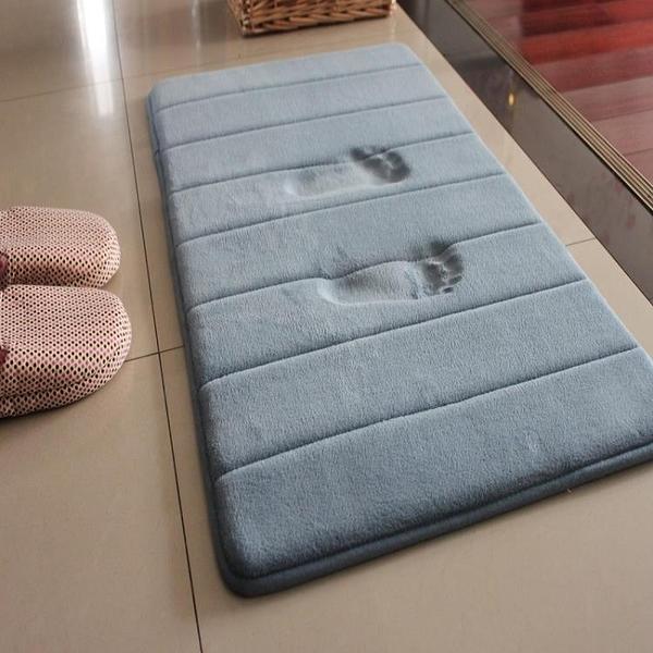 慢回彈防滑吸水衛浴地墊加厚門墊進門浴室腳墊衛生間臥室客廳地毯 【4-4超級品牌日】