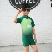 店長推薦 兒童泳衣男童泳褲套裝男孩分體小中大童數字卡通游泳衣寶寶