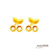 J'code真愛密碼 小櫻桃黃金耳環
