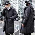 【限時下殺79折】中大尺碼正韓中長版連帽羽絨外套