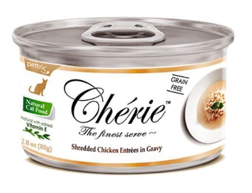 *~寵物FUN城市~* Cherie 法麗 微湯汁系列《天然嫩雞肉80g》貓罐/湯罐