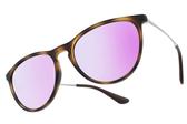RayBan 兒童太陽眼鏡 RJ9060S 70064V (琥珀棕) 潮流百搭兒童紫水銀款 # 金橘眼鏡
