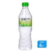 波爾天然水600ml x 6【愛買】