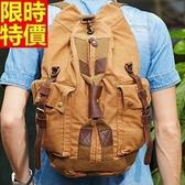 後背包-圓桶登山大容量旅行男帆布包67g6【巴黎精品】