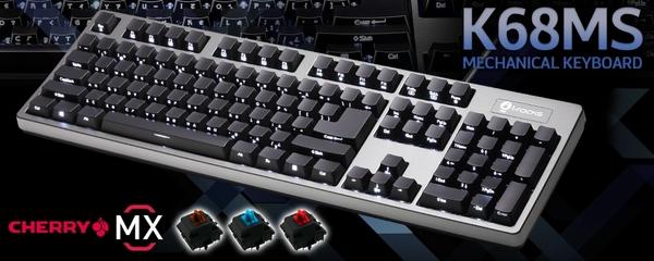 irocks K68MS側刻背光機械式鍵盤-Cherry青軸