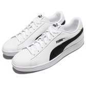 Puma 休閒鞋 Smash V2 L 白 黑 基本款 皮革 運動鞋 男鞋 女鞋【PUMP306】 36521501