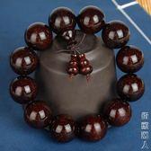 印度小葉紫檀手串千年老料高油高密男女佛珠手鏈檀香木文玩108顆 街頭潮人