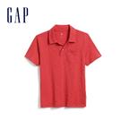 Gap 男童 棉質舒適POLO領短袖 569100-復古西瓜紅