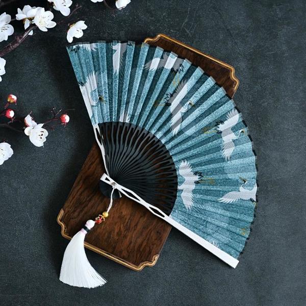 鋁合金折扇男女通用中國風古風隨身漢服搭配拍照道具扇風送男朋友 怦然新品
