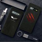 黑色圖騰翻毛防摔三星S10+手機殼 SamSung S9plus保護套 三星S20/S10/S9/S8 Plus保護殼 Galaxy S20 Ultra手機套