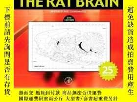 二手書博民逛書店The罕見Rat Brain In Stereotaxic Coordinates, Sixth Edition奇