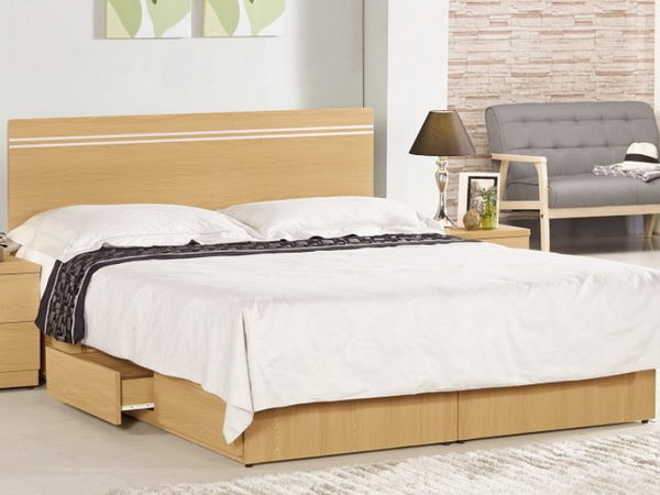 床架 MK-149-1 安妮德6尺床片型雙人床 (床頭+床底)(不含床墊) 【大眾家居舘】