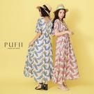限量現貨◆PUFII-洋裝 雙V後綁帶羽...