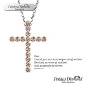 鑽石項鍊 PERKINS 伯金仕 十字架系列 0.08克拉項墜