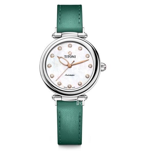 TITONI 梅花麥 瑞士 時尚機械錶 (23978 S-STG) 快拆式/碧湖綠