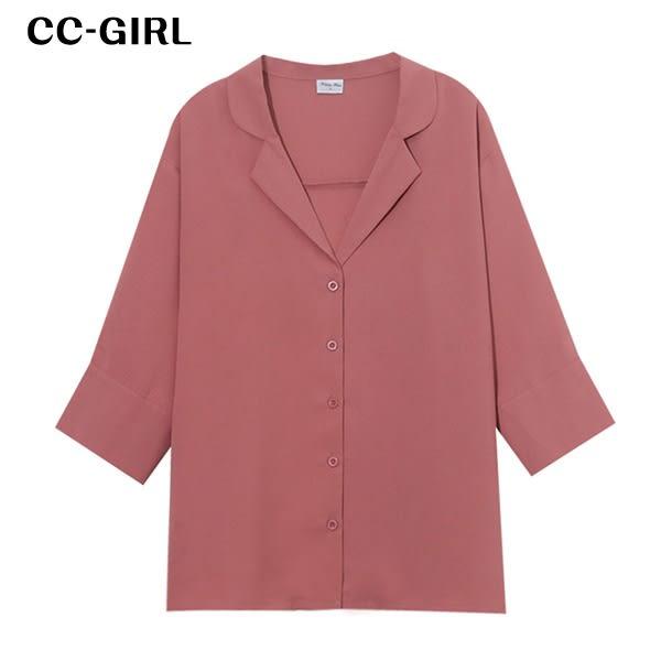 中大尺碼 氣質知性襯衫上衣~共四款 - 適XL~5L《 67050L 》CC-GIRL  新品