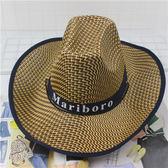 遮陽帽 騎車男士牛仔帽度假夏沙灘大沿帽子女太陽防曬帽子【中秋節禮物好康八折】