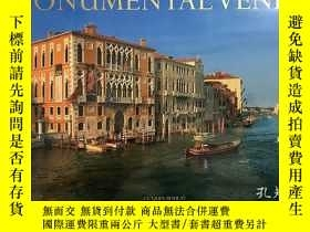二手書博民逛書店英文原版罕見Monumental Venice 水城威尼斯巨幅攝影畫冊 精裝未拆封 大橫開 4開 Jacqu