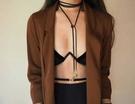 【找到自己】歐美 羽毛 項鍊 綁帶 設計 長條 自行調整 氣質女孩 繩子 項鍊 女 翅膀