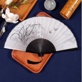 扇子折扇中國風女式隨身白色小扇子古典夏季漢服梅花水墨扇舞蹈扇 怦然新品