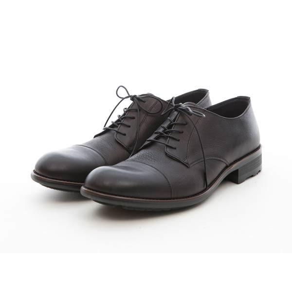 增高設計橫式德比皮鞋#41216紳士黑 -ARGIS日本製手工皮鞋