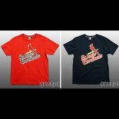 MLB大聯盟 純棉T恤 短T 雙排英文影子款 紅雀隊 深藍/紅 2色 # 5530204- ☆speedkobe☆