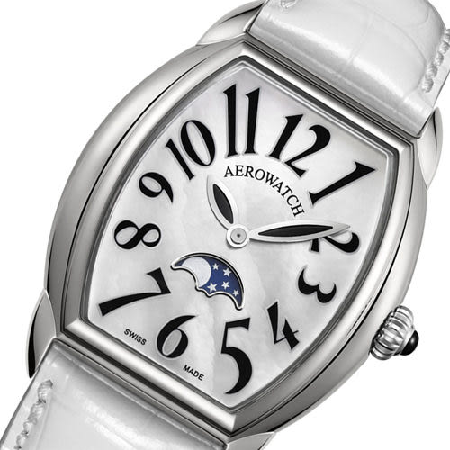 AEROWATCH Horloge lady 月相珍珠貝腕錶 A43958AA03