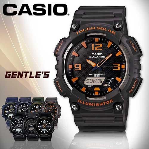 CASIO 卡西歐手錶專賣店 AQ-S810W-8A 男錶 鐵灰 雙顯錶 橡膠錶帶 太陽能電力 碼錶 節電 防水