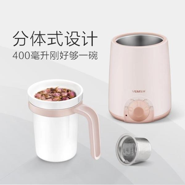 電熱養生杯辦公室煮粥電燉杯加熱迷你牛奶陶瓷電熱杯 黛尼时尚精品